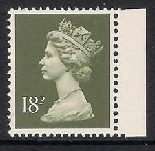 GB 1988 sg X1009 18p Deep Olive-Grey litho. phosphorised paper booklet stamp MNH