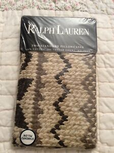 Rare 1997 Ralph Lauren Auckland Natural Standard Pillowcases  NIP