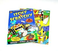 ITCHY & SCRATCHY COMICS LOT COMPLETE SET #1-3 RARE BONGO COMICS GROUP SIMPSONS!!