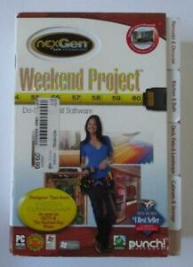 Weekend Project Software by Punch! (2009 PC DVD) Do It Yourself As Seen On HGTV
