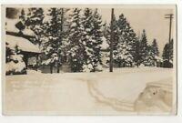 After Big Snow Storm Fernie BC Canada Mar 1913 RPPC Postcard Spalding US155