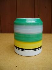 Vintage Gray's Pottery hand-painted banded storage jar (small)