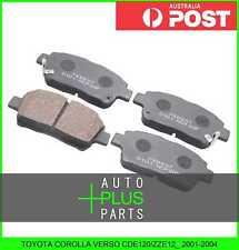 Fits TOYOTA COROLLA VERSO CDE120/ZZE12_ 2001-2004 Brake Pads Disc Brake (Front)