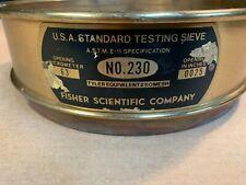 Vintage brass Fisher Scientific sieve# 230, steampunk