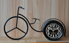 Bicycle Metal Clock Vintage Industrial Table Mantle Desk Home Decor Bike *NEW*