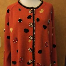 Jack B.Quick Woman's Plus Unique Beaded Sweater Size 3X