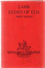 The Essays Of Elia 1st series by Charles Lamb (1947 Macmillan hardback)