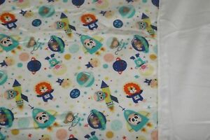 Coverlet Blanket with Soft Fleece Lining For Crib Moses Basket Pram Outer Space