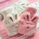 Hot Water Bottle Bag Fur Furry Fluffy Rabbit Design Warm Winter Shaggy Plush New