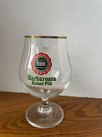 BBK Barbarossa Kaiser Pils 0.4L Snifter Beer Glass