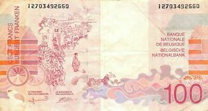 Belgium 100  Francs  ND. 1995  P 147a  Circulated Banknote D36