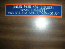 NOLAN RYAN NAMEPLATE FOR SIGNED BALL CASE/JERSEY CASE/PHOTO