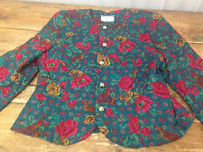 Susan Bristol Talbots Petites Womens Jacket Turkey Thanksgiving Birds Puffy M