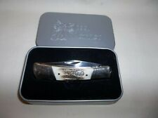 Frost Cutlery Steel Warrior Single Blade Stag Handle Lockback Pocket Knife