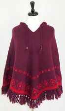 American Eagle Outfitters Poncho Cape S/M 100% Shetland Wool Hooded