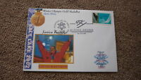 2002 WINTER OLYMPIC GOLD MEDAL WIN COVER, JANICA KOSTELIC CROATIA SKIING 2