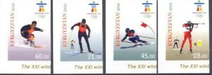 1184 - Kyrgyzstan - 2010 - Olympic WOG Vancouver - 4v imperforated - MNH