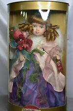 """NRFB Collectible Memories Bisque Porcelain Doll Cynthia 17"""" COA Stand Ltd. Edt."""