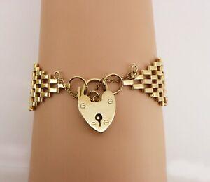 RARE 1956 Vintage 6 Bar 9ct Gold Gate Bracelet Superb Condition. NICE1