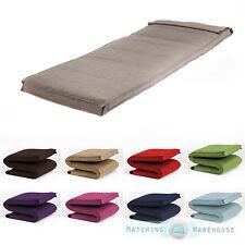 Single Size Futon Mattress Folding Foam Filled Removeable Fabric Cover 1 Seater
