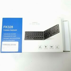 FK328 Foldable Keyboard Dark Gray iOS Android Windows BT