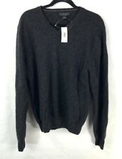 Bloomingdale's Men's 100% Cashmere Sweater Size L New With Tags Coal