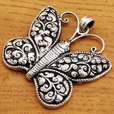Butterfly Pendant Sterling Silver 925 Tibetan Nepalese Handmade Tibet Nepal SS16