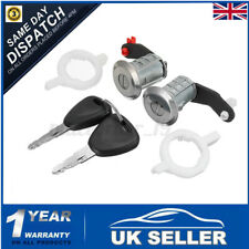 Left Right Door Lock Barrel Cylinder & 2 Key For Renault Master Interstar 98-16