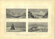 1881 American Franklin Search Expedition Sketch Monument Douglas Bay