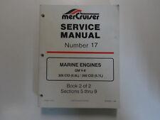 Mercruiser #17 Marino Motori GM V8 305 350 Cid 5.0L 5.7L Service Manuale Libro 2