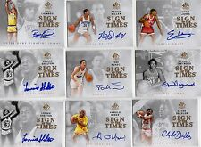 Lonnie Shelton lot 2 2012-13 SP Authentic Sign of the Times auto