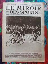 Le MIROIR des SPORTS 24-09-1924 Jules VAN HEVEL Hector MARTIN, NELSON SMITH WADE