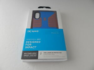 """Speck Products Presidio Grip Print Metallic Clear Case For iPhone XR 6.1""""  New"""