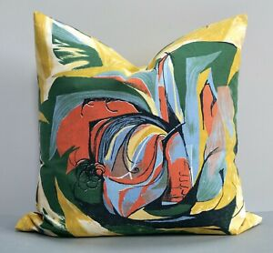Rare Vintage 1950s Fabric Cushion Covers 'Sweetcorn' by Barbara Brown for Heals