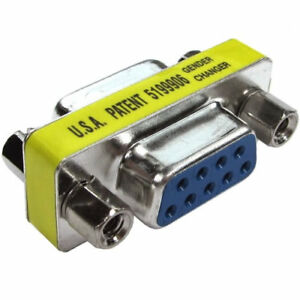 9 Pin Female to Female - Converter Adapter CONVERTS 9 PIN PLUG to FEMALE SOCKET