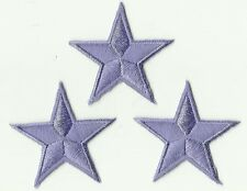 LOT 3 ECUSSON PATCH THERMOCOLLANT ETOILE VIOLET 4,5 X 4,5 CMS PURPLE STAR