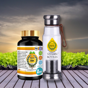 Organic Greek Vitamin Zinc + Vitamin Bottles. Hydrogen Alkaline Generator Water