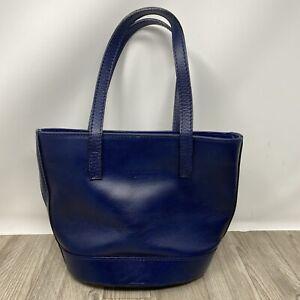 Vera Pelle, Navy Blue Italian Leather Chic Casual Handbag for Women. EXC COND.