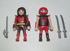 Playmobil Figurine Personnage Lot Couple Homme & Femme Ninja + Accessoires NEW