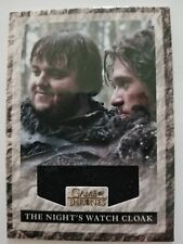 2013 Game of Thrones Rittenhouse #RNW1 The Night's Watch Cloak Relic Card /625