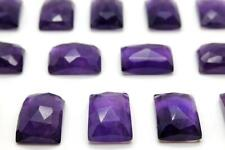Natural Rectangle Amethyst Gemstone 13x18mm Loose Cabochons February Birth Stone