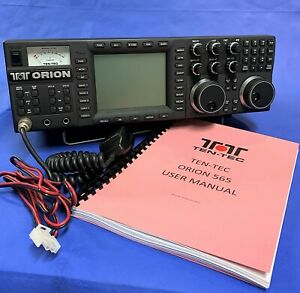 Ten Tec Orion 1 (565) HF Transceiver- INRAD filters, microphone, manual, tested