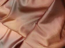 """Distressed Salmon Colored Satin Lining Fabric Per Yard x 45"""""""