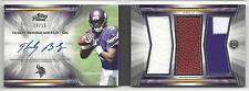TEDDY BRIDGEWATER 2014 TOPPS PRIME LEVEL 3 TRIPLE PATCH AUTO BOOK RC #D 10/15