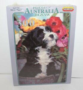 Pieces Of Australia Jigsaw Australian Shih Tzu Puppies Jigsaw Puzzle 300 New