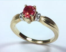Padparadscha Sapphire Natural Genuine Gemstone  Lady,s Gold Ring RFK,250