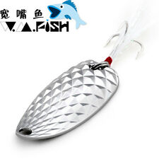 GT-BIO Wide Fish Pineapple Freshwater Artificial Metal Spoons Fishing Lure