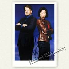 CASTLE mit Stana Katic & Nathan Fillion alias Kate & Rick  -  Autogrammfoto 