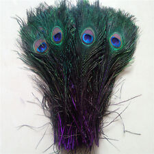 Wholesale 10-100pcs Peacock feathers eye 10-12 inches / 25-30 cm natural color
