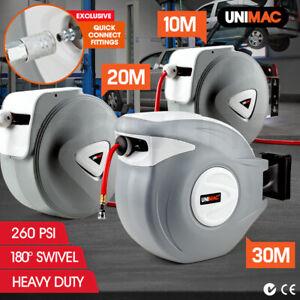Unimac 30m/20m/10m Retractable Air Hose Reel Compressor Auto Rewind Wall Mounted